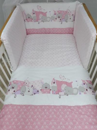 Σετ προίκας μωρού 3 τεμ. για το κρεβατάκι Baby Star Ροζ eda72cd0aef
