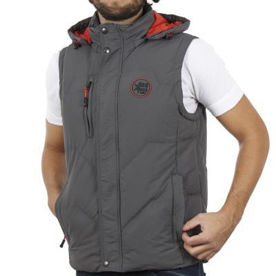 82b33f08c16e Ανδρικό Αμάνικο Μπουφάν Puffer Jacket με Κουκούλα ICE TECH G625 Γκρι
