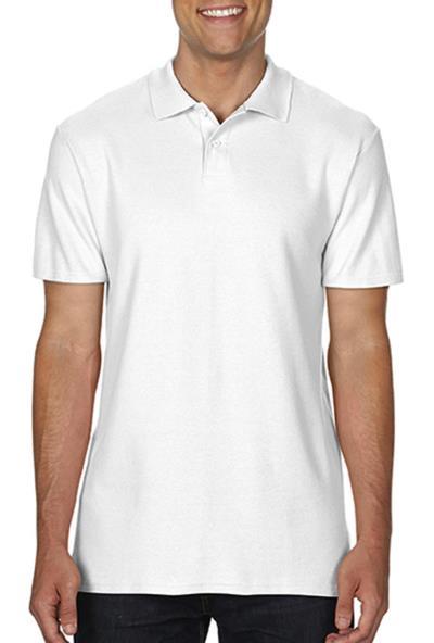Ανδρική Μπλούζα Double Pique Polo Softstyle Gildan 64800 - White a90f1a329a6