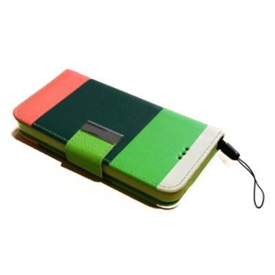 b39f59b576 Θήκη κινητού για Iphone 5C πορτοφόλι πολύχρωμη light green green