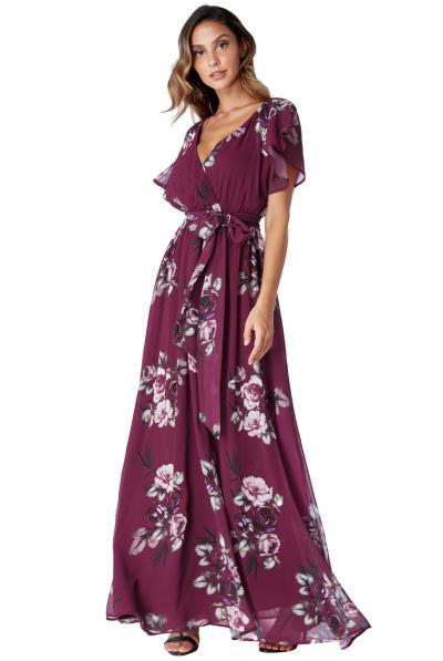 d75bddf17162 romantic maxi αέρινο φόρεμα Petunia magenta