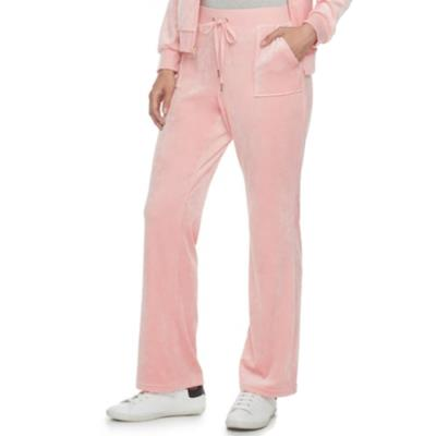 Παντελόνι φόρμας γυναικείο βελουτέ ροζ Juicy Couture 701fd0b6356