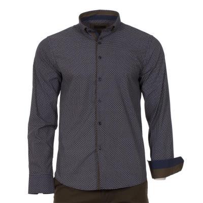 c537311d3a8d Ανδρικό Μακρυμάνικο Πουκάμισο Slim Fit CND Shirts 1750-6 Navy