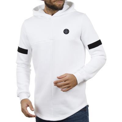 41583fa3ce31 Ανδρικό Μακρυμάνικη Μπλούζα με Κουκούλα FREE WAVE 82110 Λευκό