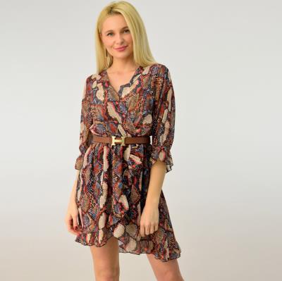 49f7925ca1f3 Γυναικείο φόρεμα κρουαζέ snake print
