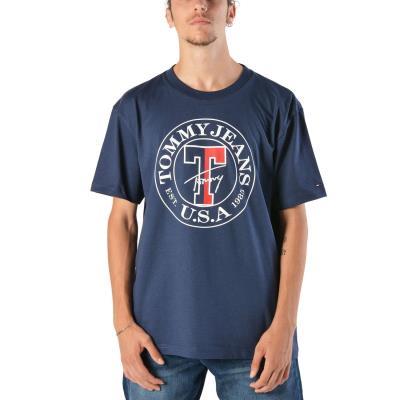 3947d6a79 Tommy Hilfiger Circle Tee | Ανδρικό T-shirt DM0DM05127-002 - NAVY