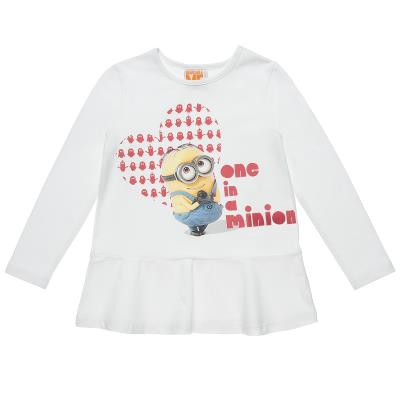 bd3c6a641ed Μπλούζα Minions με τύπωμα και βολάν (Κορίτσι 4-12 ετών) 00121317 ΕΚΡΟΥ