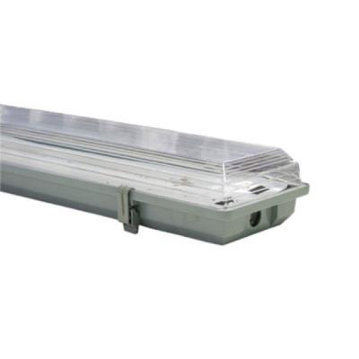 Στεγανό φωτιστικό για 2 λάμπες LED T8 120cm από πλαστικό τύπου φθορίου με  τροφοδ 02aa3669afc