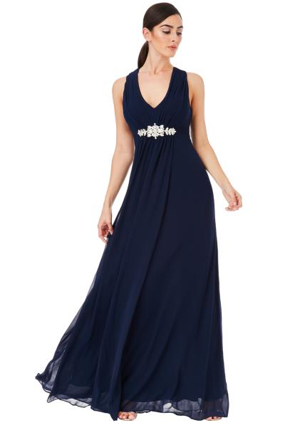 dbfffac71dc0 αέρινο princess maxi φόρεμα σε μπλε navy