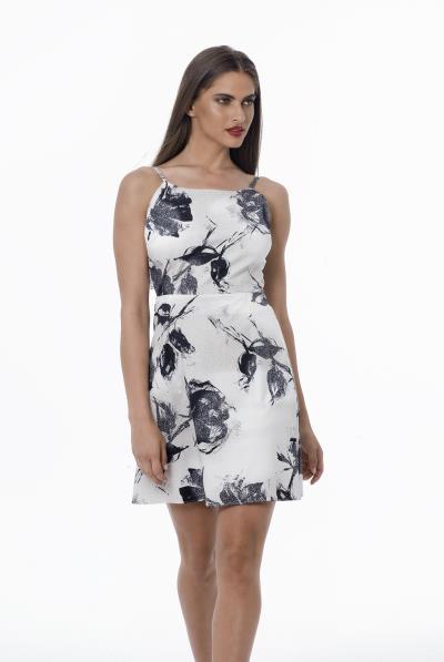 a60e04690974 Φόρεμα εμπριμέ ραντάκι δέσιμο στην πλάτη - 18213