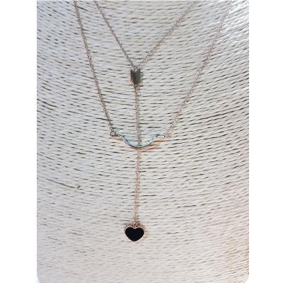 Ατσάλινο κολιέ καρδιά-βέλος a49954ba221
