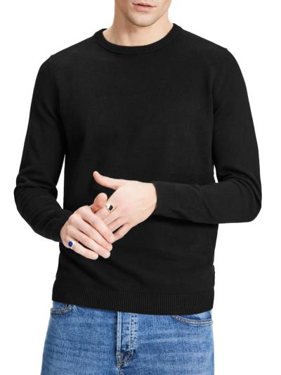 Ανδρική Κλασική Πλεκτή Μπλούζα Jack   Jones Μαύρο 57182297190 890a9614d48