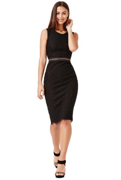 2ce8204dc91c unique elegance φόρεμα δαντέλα σε μαύρο