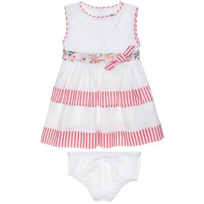 Φόρεμα με βρακάκι (6-18 μηνών) 00470643 ΛΕΥΚΟ 9ba7e5ed680