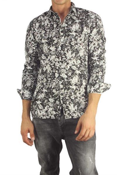 Anerkjendt ανδρικό πουκάμισο Girgoc ασπρόμαυρο - 9416031 c3aa382c44e