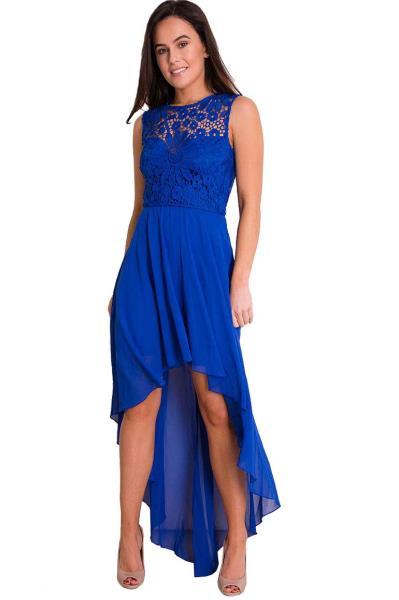 3649fea9528d royal blue high low αέρινο φόρεμα Millie