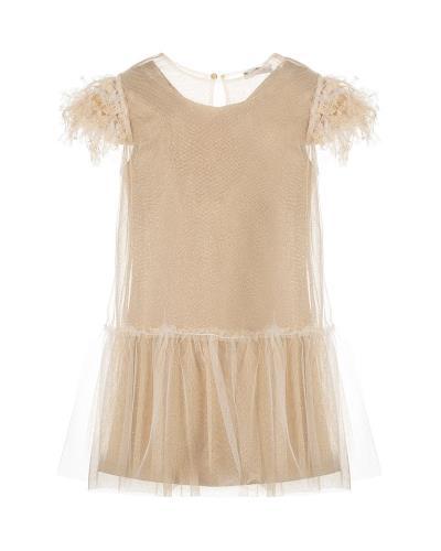 φόρεμα παιδικο μπεζ - Totos.gr cd1b2770729