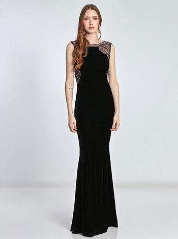 094f2bab63b7 Maxi βελούδινο φόρεμα SE1249.8025+1