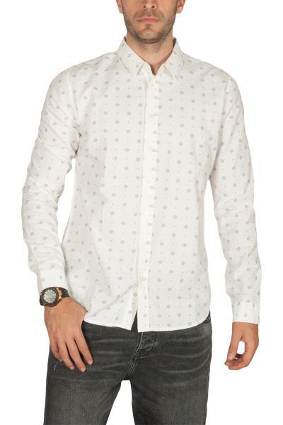 c73459f417d6 LTB Miforo ανδρικό πουκάμισο μακρυμάνικο λευκό - m49118-wh