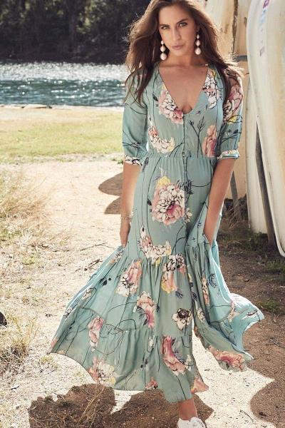 9e57789ec805 bohemian luxe maxi robe φόρεμα Mia mint