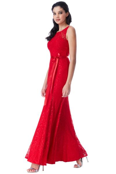 romantic hot red open back φόρεμα δαντέλα 9de11be6e48