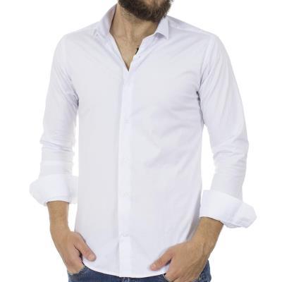 Ανδρικό Μακρυμάνικο Πουκάμισο Slim Fit ENDESON FASHION 125 Λευκό ec2de0f99ef