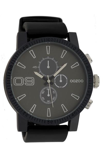 OOZOO C9274 Timepieces XXL Black Rubber Strap 81fcecfe930