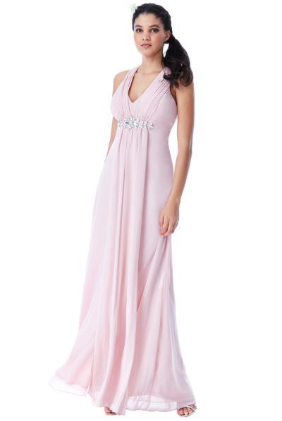 b0e88df5a92d αέρινο princess maxi φόρεμα σε ροζ blush