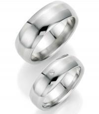596d6a53ae96 BRUNO BANANI Stainless steel with Zirkonia Βέρες Γάμου από ανοξείδωτο ατσάλι