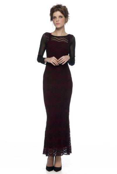 130aba9f9850 Φόρεμα διπλό δαντέλα μακρύ - 13503