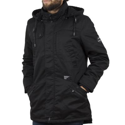 e203ef1d148c Ανδρικό Μακρύ Μπουφάν Parka Jacket με Κουκούλα SPLENDID 40-201-030 Μαύρο