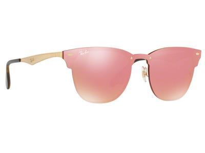 86fd606ee0 Γυαλιά ηλίου Ray-Ban Blaze Clubmaster RB 3576N 043 E4 Χρυσό Ροζ Καθρέφτης  (043 E