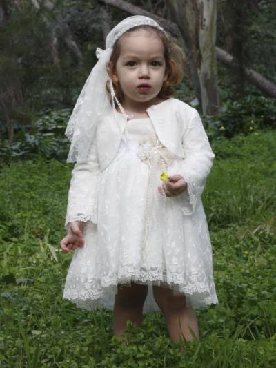 76b825b0ed4 New Life Βαπτιστικό Φόρεμα και Μπολερό Ιβουάρ 2310-6