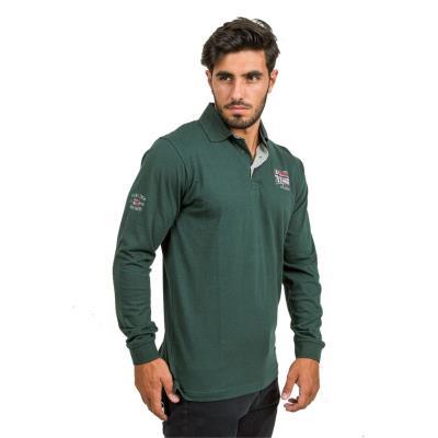 008e7c600ddb Ανδρικό Μακρυμάνικη Μπλούζα με Γιακά POLO DOUBLE PS-205 Πράσινο