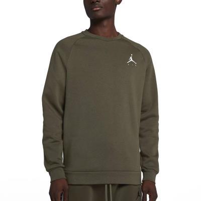 Jordan Jumpman Air Men s Fleece Crew 940170-395 - OLIVE CANVAS WHITE dd20cf601f4