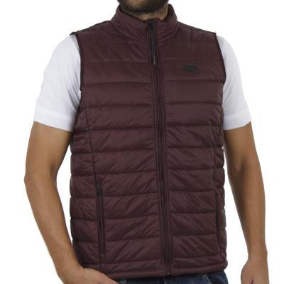 a5d91dffc29e Ανδρικό Αμάνικο Μπουφάν Puffer Vest Jacket DOUBLE SMJK-06 Μπορντώ
