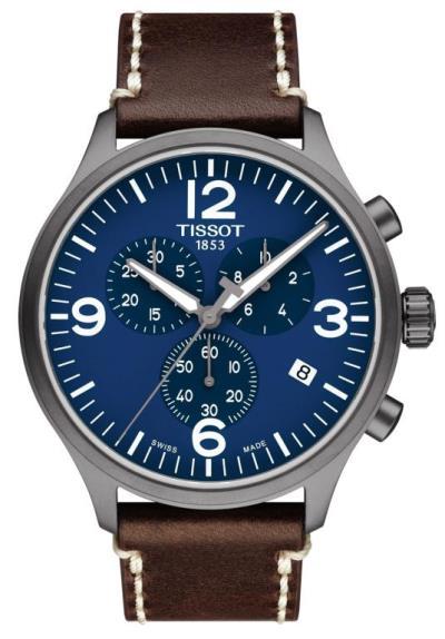 TISSOT Chrono XL Brown Leather Strap T116.617.36.047.00 d7c62816deb
