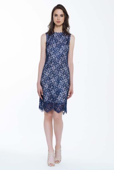 7f61d5ba766 φόρεμα μπλε δαντελεσ - Totos.gr