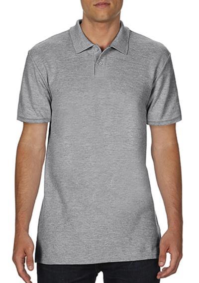 Ανδρική Μπλούζα Double Pique Polo Softstyle Gildan 64800 - Sport Grey 89b8bc0ba97