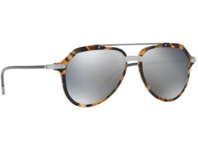 Γυαλιά ηλίου Dolce Gabbana DG 4330 3141 6G Σκούρο Καφέ Ταρταρούγα Ασημί  Καθρέφτη dfc320441db