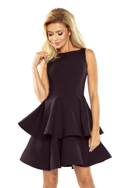 70124 NU Μίνι φόρεμα με βολάν - μαύρο 26694736f39