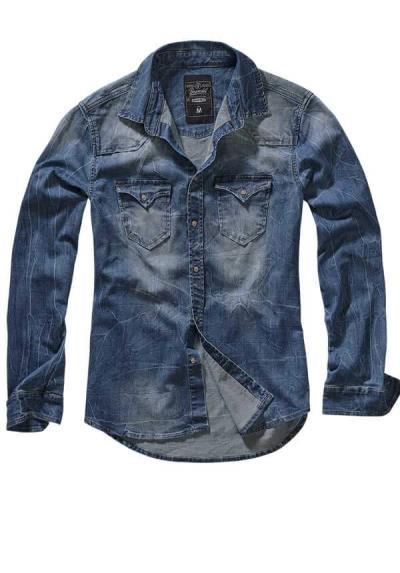 0b11aca7ee41 Brandit Ανδρικό Τζιν Πουκάμισο - RILEY DENIM SHIRT - Brandit - Μπλε -  4020-62