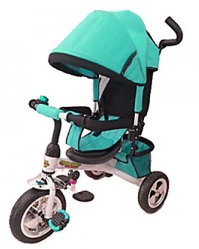 3d848f6e56e  Παιδικό τρίκυκλο ποδήλατο Τιρκουάζ με μπάρα καθοδήγησης και τέντα 906-3EVA