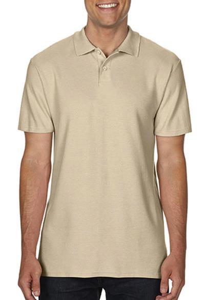 Ανδρική Μπλούζα Double Pique Polo Softstyle Gildan 64800 - Sand b541dfb68b9