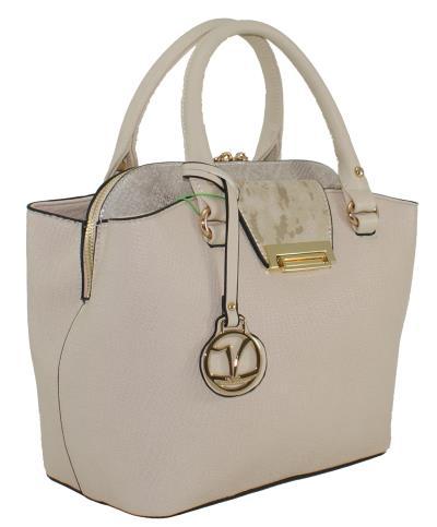 7d760f1315 Γυναικεία τσάντα χεριού-ώμου Verde 16-0004994 σε μπεζ χρώμα έως 6 άτοκες  δόσεις