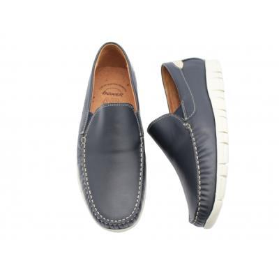 9221ca80823d  b Μοκασίνια δερμάτινα  b  ανατομικά ανδρικά παπούτσια Boxer 21142 μπλε.  BOXER-2