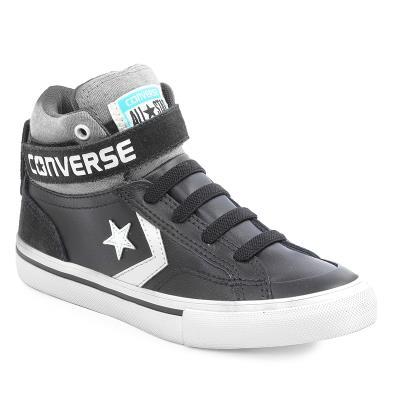 Παιδικά Προπαιδικά Παπούτσια Converse Pro Blaze Strap Hi Black Storm  wind Egret 6617f43817c
