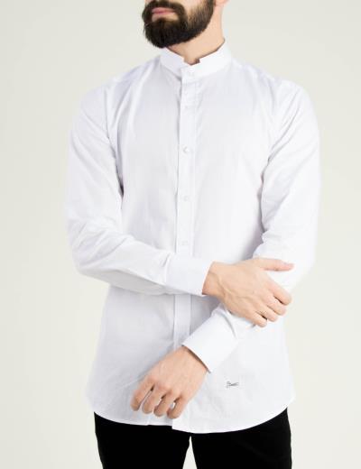 c5bbc203398f Ανδρικό λευκό πουκάμισο Ben Tailor Mao γιακάς 373320