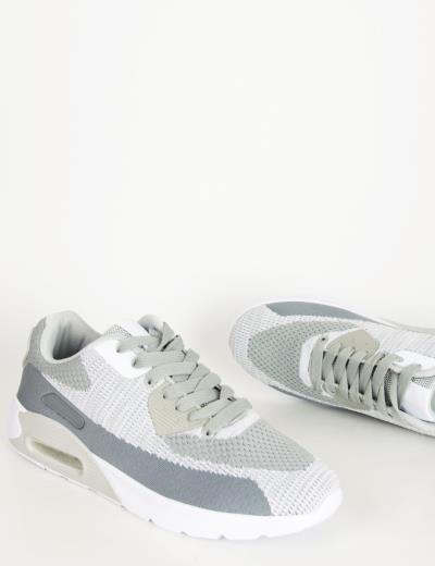 b00dd96b2c9 Ανδρικά γκρι αθλητικά παπούτσια με αερόσολα 2817