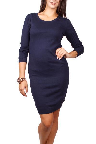56038269de5 Ryujee Plume πλεκτό φόρεμα βαθύ μπλε - ry-1167